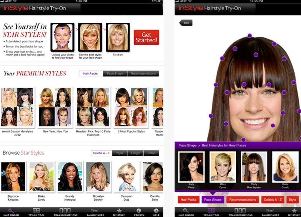 The Best Instyle Hairstyle Try On From Best Trend Apps For Iphone Pictures