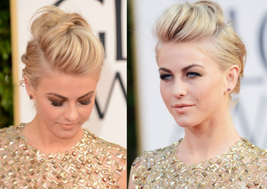The Best Hair By Jewels Julianne Hough S Edgy Fauxhawk For The Pictures