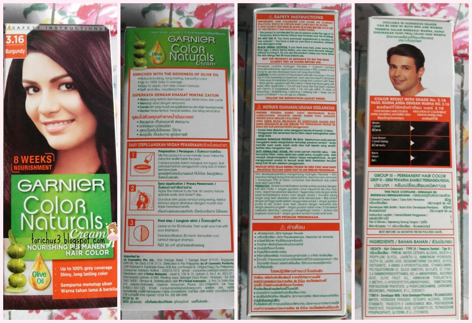The Best Tori Chu Review Garnier Color Naturals Cream 3 16 Burgundy Pictures