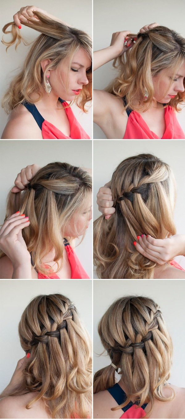 The Best Oh The Lovely Things Diy Waterfall Braided Bun By Hair Pictures