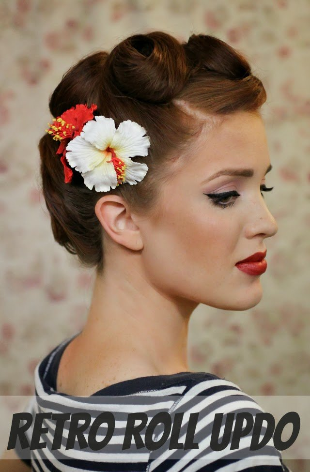 The Best The Freckled Fox Modern Pin Up Week 6 Retro Roll Updo Pictures