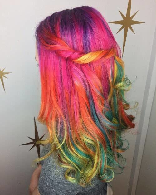 The Best 28 Cool Rainbow Hair Color Ideas Trending For 2018 Pictures