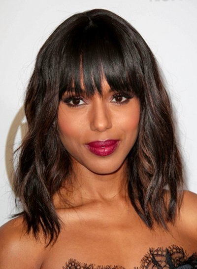 The Best Medium Wavy Hairstyles With Bangs Beauty Riot Pictures