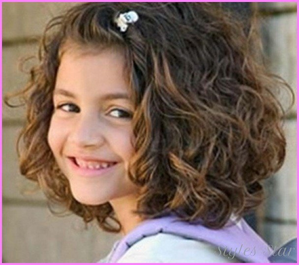 The Best Short Haircuts For Little Girls With Curly Hair Pictures