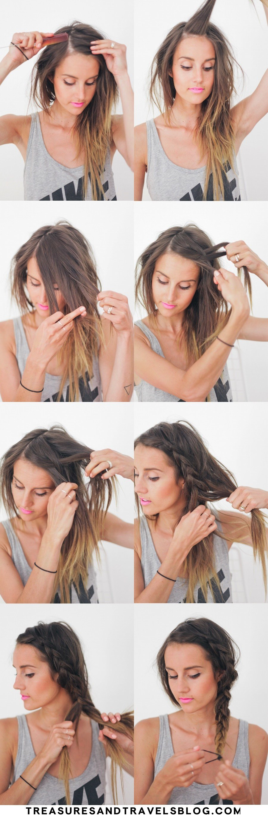 The Best Hair Tutorial Thick Summer Braid — Treasures Travels Pictures