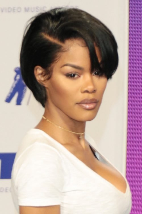 The Best Teyana Taylor Straight Black Pixie Cut Hairstyle Steal Her Style Pictures