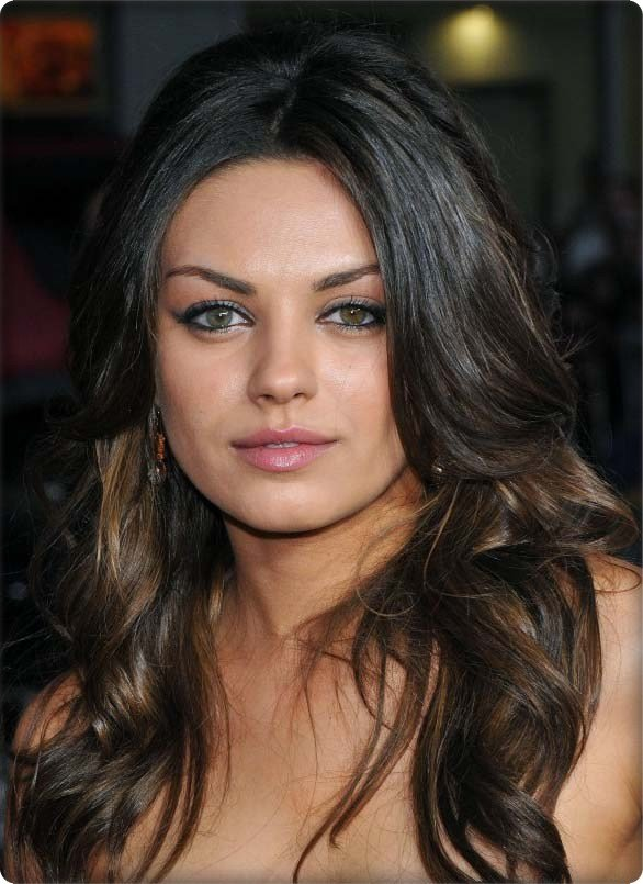 The Best Picture Gallery Long Wavy Hairstyle Mila Kunis 2012 Hairstyle Pictures