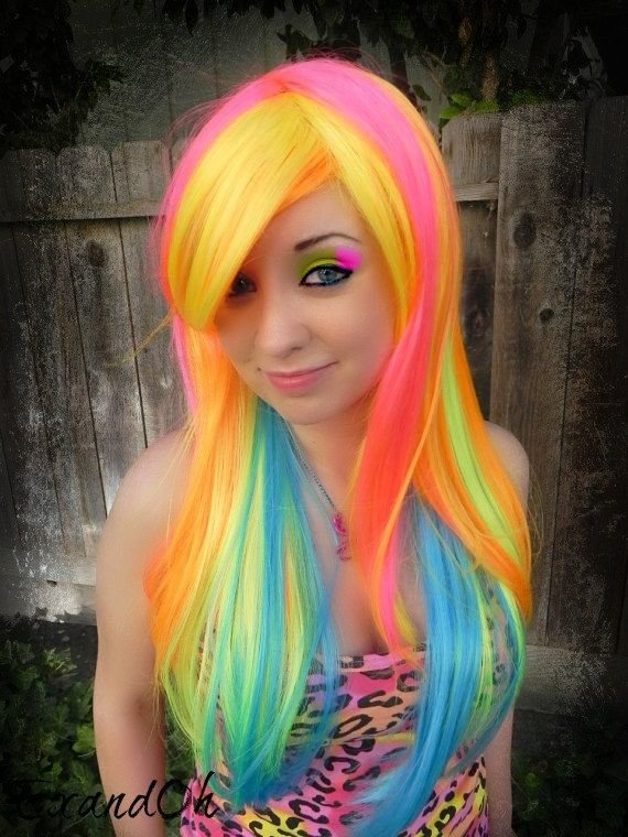 The Best Multi Colored Hair Don T Care Images And Video Tutorials Pictures