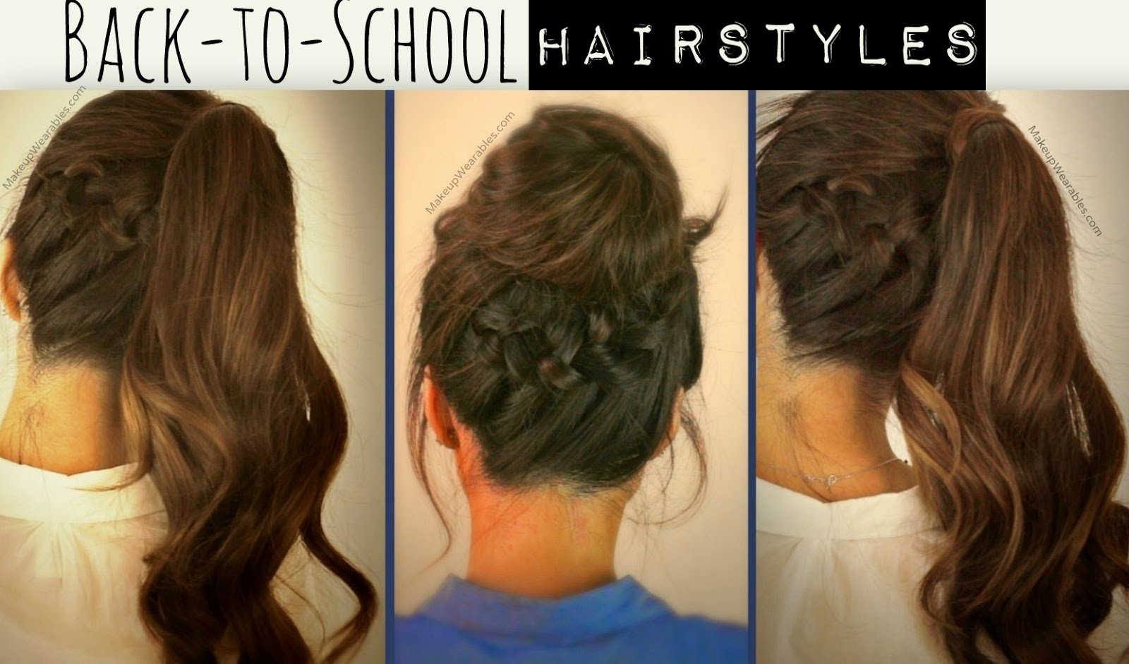 The Best Free Hair Tutorial Video Cute School Hairstyles Updos Pictures