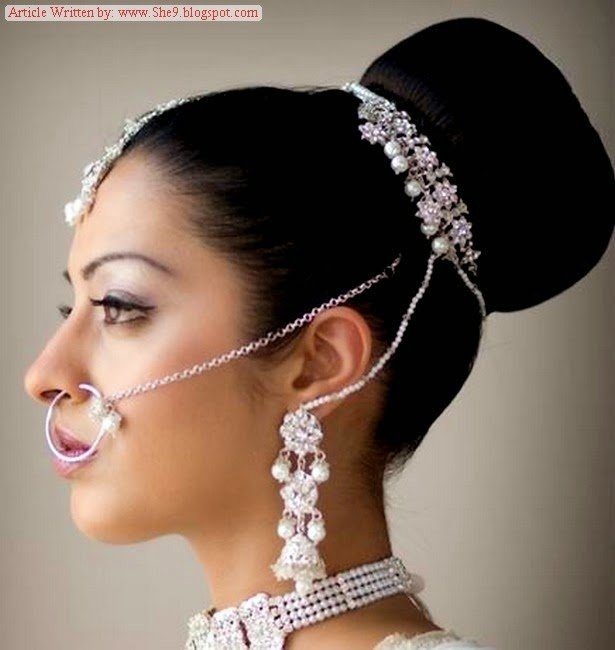 The Best Pakistani Bridal Hairstyles 2014 2015 For Walima Party And Pictures