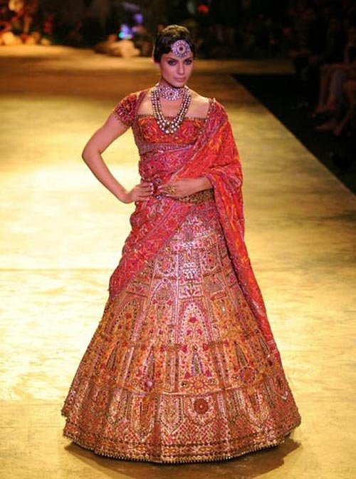 The Best Bridal Lehenga Collection 2011 Bridal Makeup Pictures