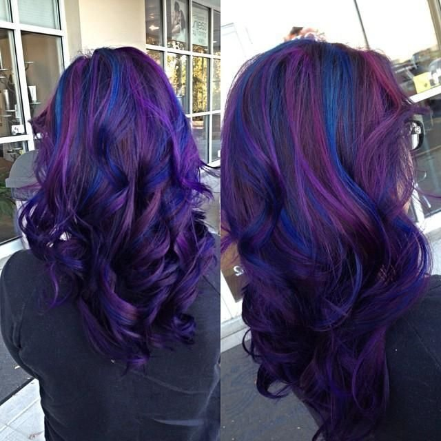 The Best Purple To Blue Hair Colors Ideas Pictures
