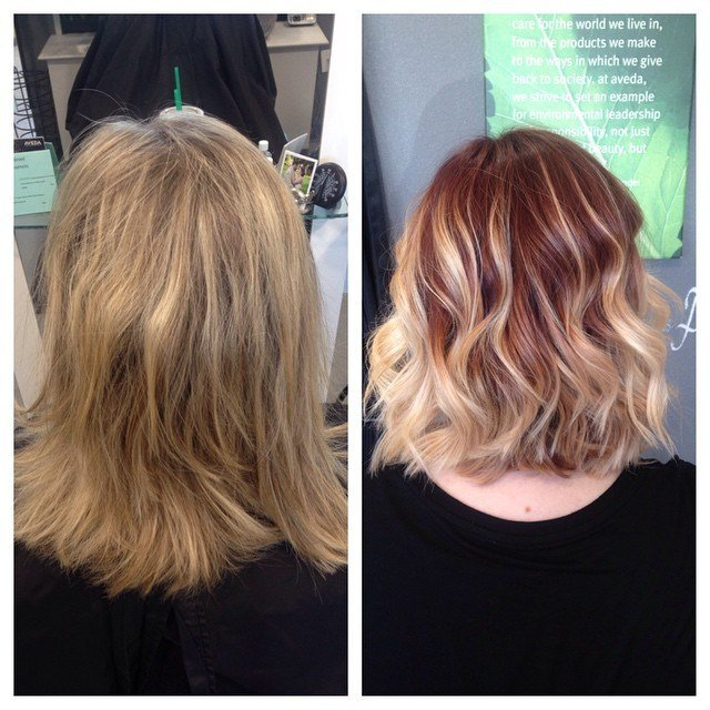 The Best Golden Blonde To Deep Purple Balayage Hair Colors Ideas Pictures