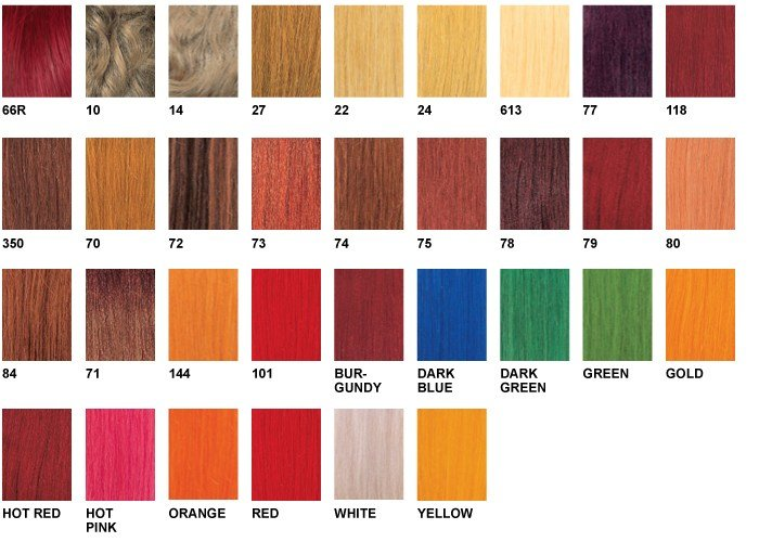 The Best Xpressions Hair Color Chart Pictures
