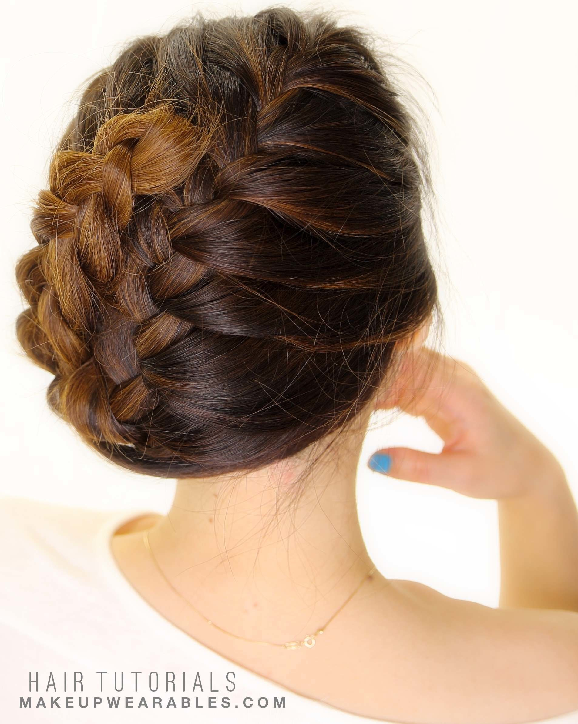 The Best French Braid Updo Everyday School Wedding Hairstyles Pictures
