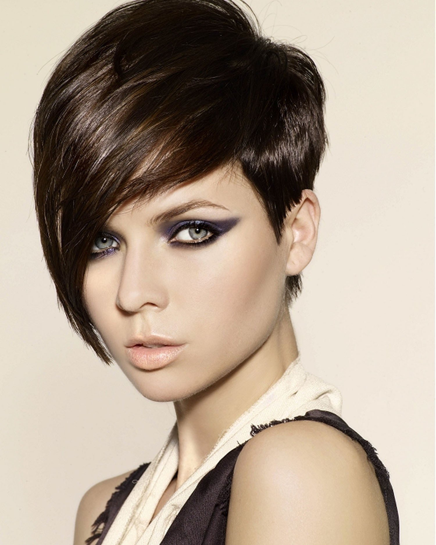 The Best 2012 Hair Trend Of Short Haircut With Long Bangs More Pictures