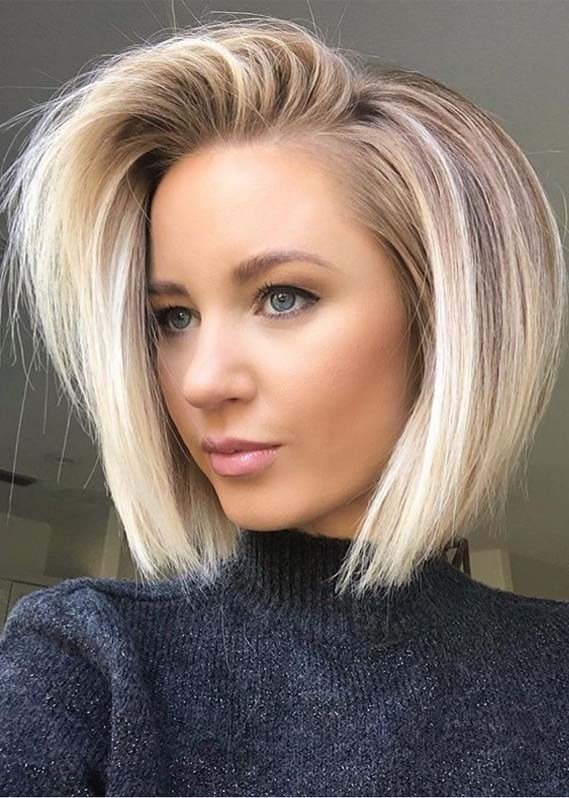 The Best Modern Side Swept Blonde Bob Hairstyles For 2019 Modeshack Pictures