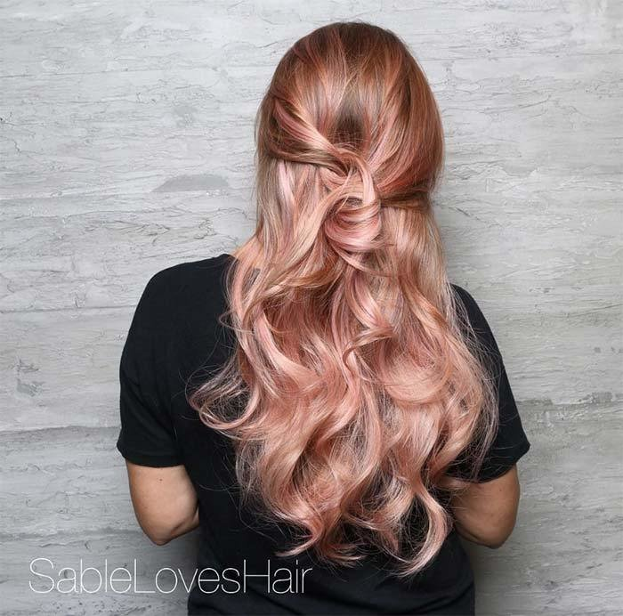 The Best 65 Rose Gold Hair Color Ideas For 2017 Rose Gold Hair Pictures