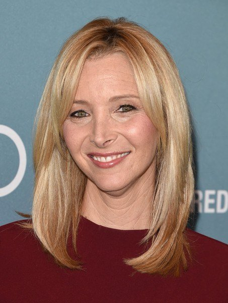 The Best Lisa Kudrow Medium Straight Cut With Bangs Shoulder Pictures