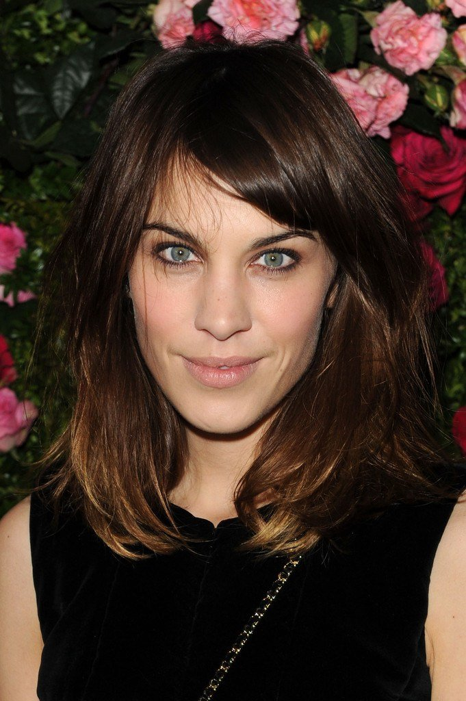 The Best Alexa Chung Medium Straight Cut With Bangs Alexa Chung Pictures