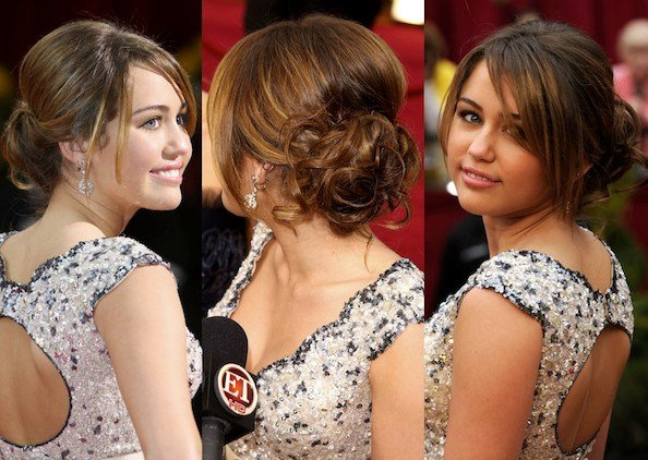 The Best Romantic Curly Updo Miley Cyrus Prom Hairstyle Ideas Pictures