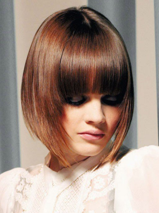 The Best Graduated Bob With Fringe Hairstyles Weekly Pictures