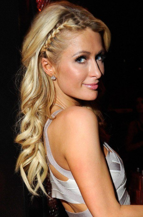 The Best Paris Hilton Braided Hairstyle For Long Hair Pictures