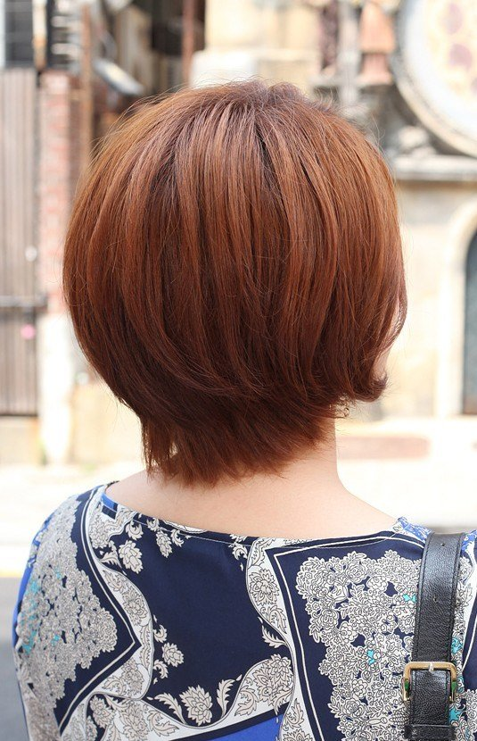 The Best Back View Of Short Auburn Bob Hairstyle Hairstyles Weekly Pictures