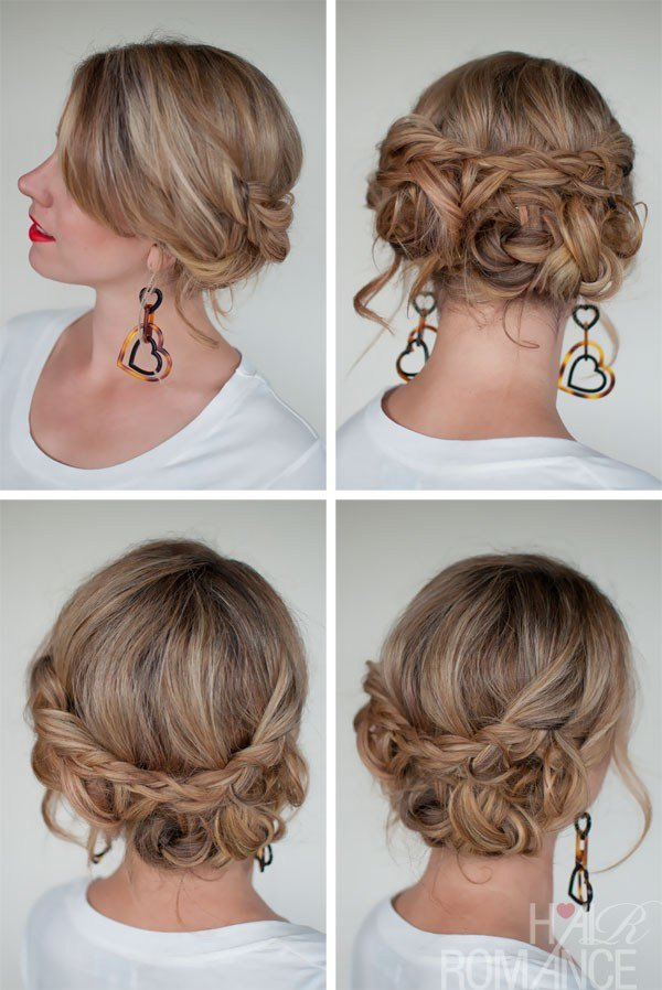 The Best Casual Messy Braided Updo The Best Braided Updos For Pictures