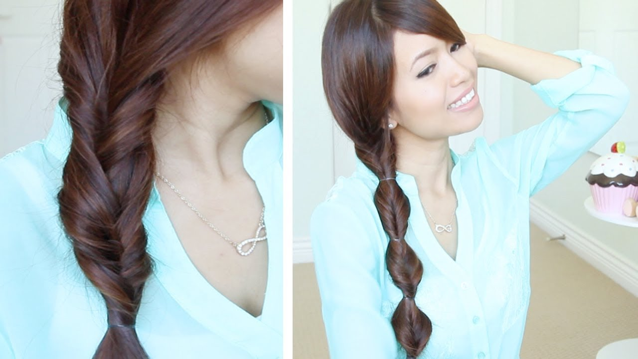 The Best Quick Easy Faux Braid Hairstyles For Medium Long Hair Pictures