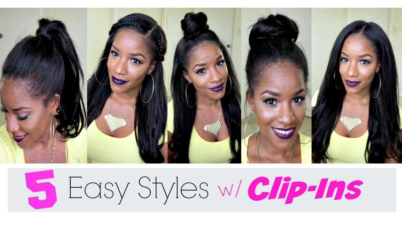 The Best 5 Simple Ways To Style Clip In Extensions Youtube Pictures