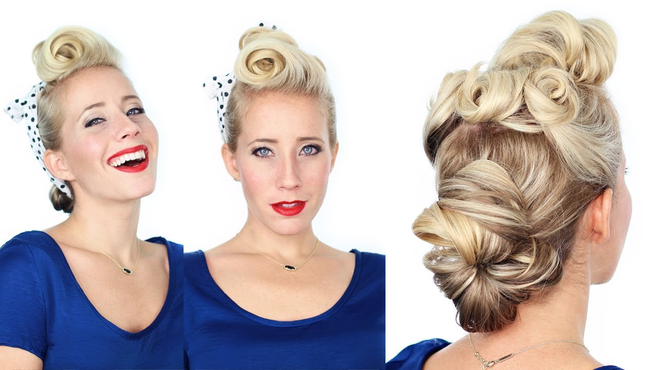 The Best 1940 S Pin Up Girl Hairstyle Youtube Pictures