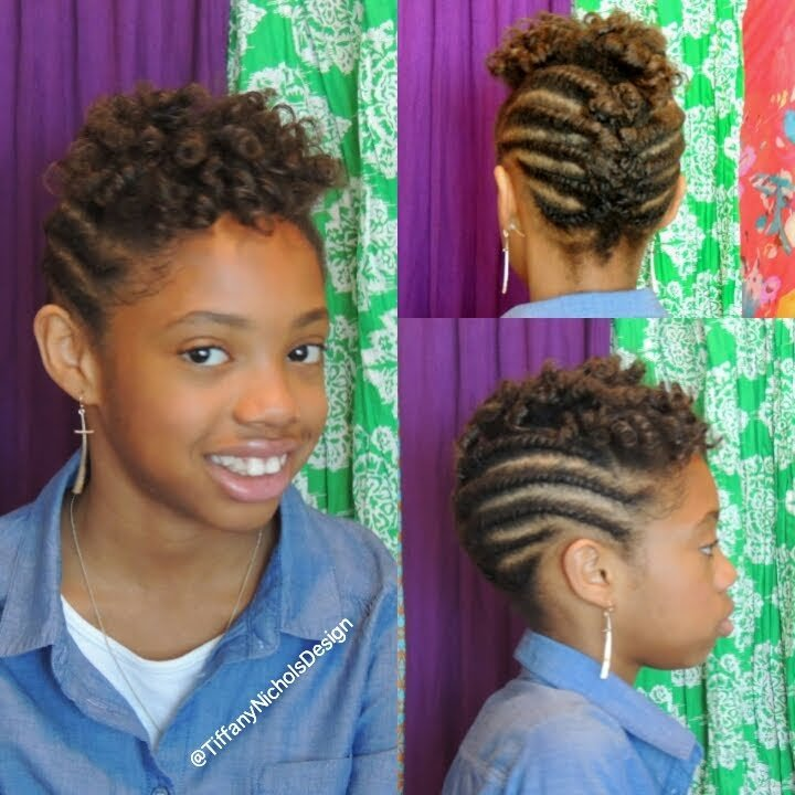 The Best Roller Set And Flat Twist Updo On Natural Hair Kid Pictures