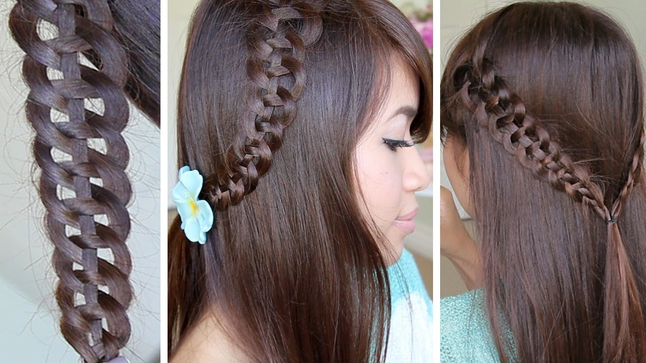 The Best 4 Strand Slide Up Braid Hairstyle Hair Tutorial Youtube Pictures