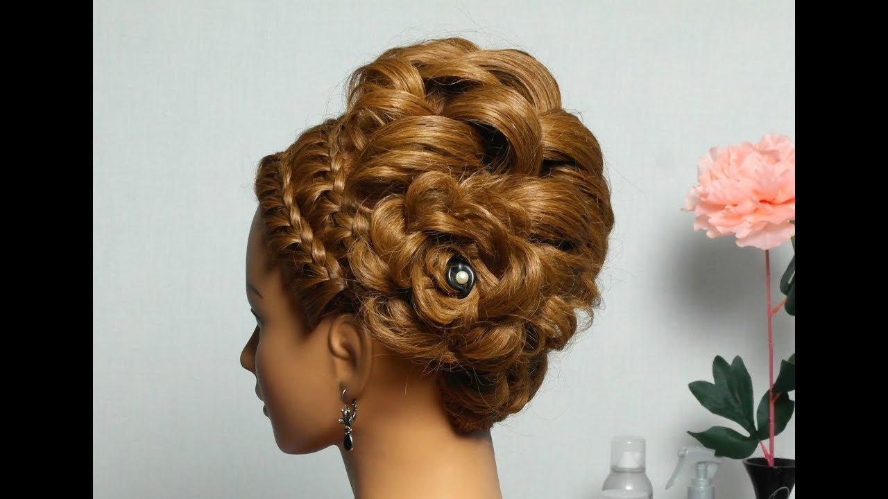 The Best Braided Updo Hairstyle For Medium Long Hair Youtube Pictures