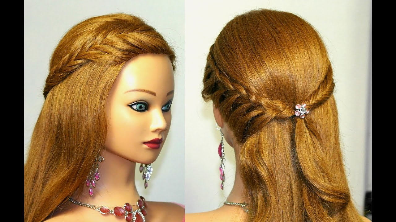 The Best Easy Bridal Prom Hairstyle For Medium Long Hair Youtube Pictures