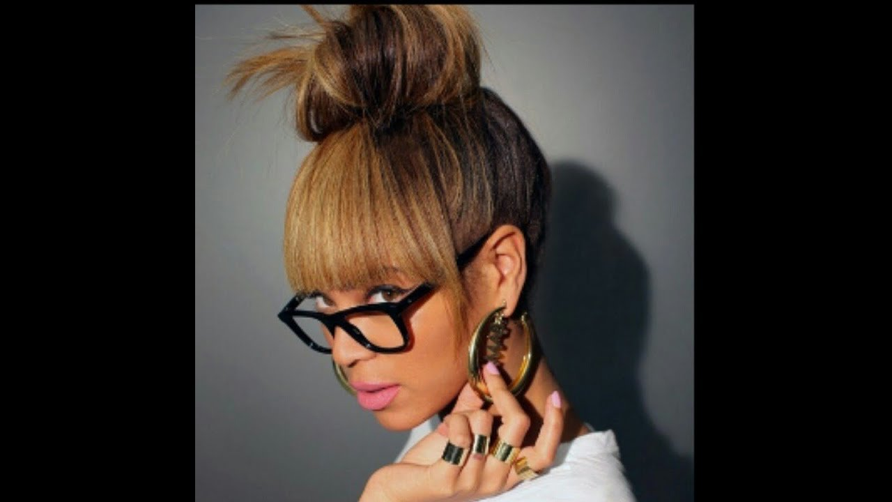The Best Beyonce Inspired Bun Bangs Tutorial Faux Bangs Youtube Pictures