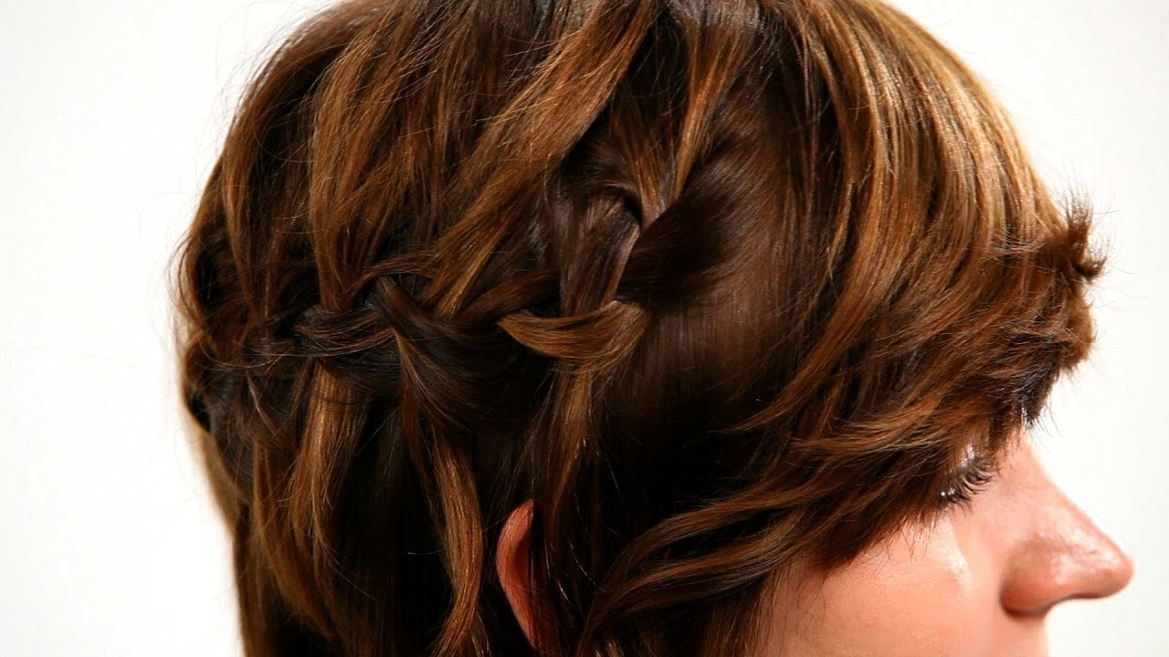 The Best How To Waterfall Braid Short Hair Short Hairstyles Youtube Pictures