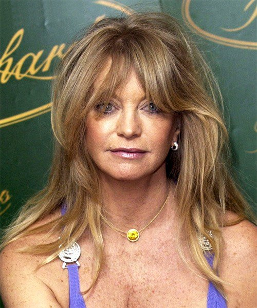 The Best Goldie Hawn Long Straight Casual Hairstyle Pictures