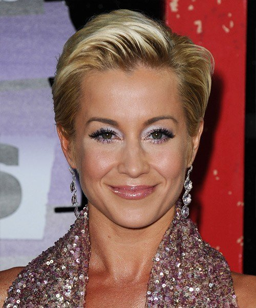 The Best Kellie Pickler Short Straight Formal Hairstyle Blonde Hair Color With Light Blonde Highlights Pictures