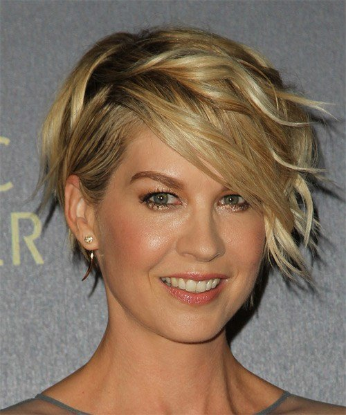 The Best Jenna Elfman Short Wavy Formal Hairstyle Dark Golden Pictures