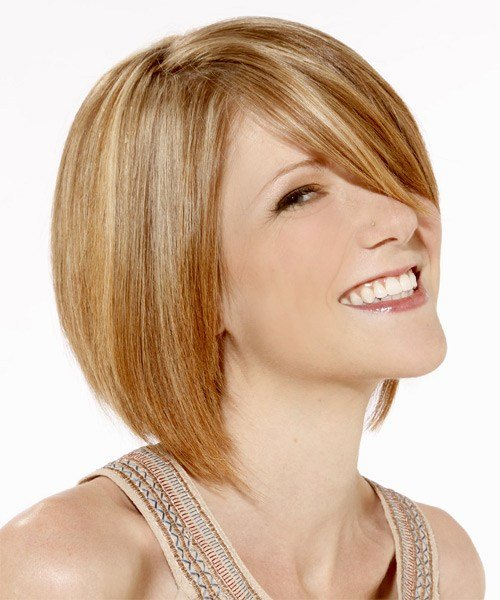 The Best Medium Straight Formal Layered Bob Hairstyle Golden Pictures