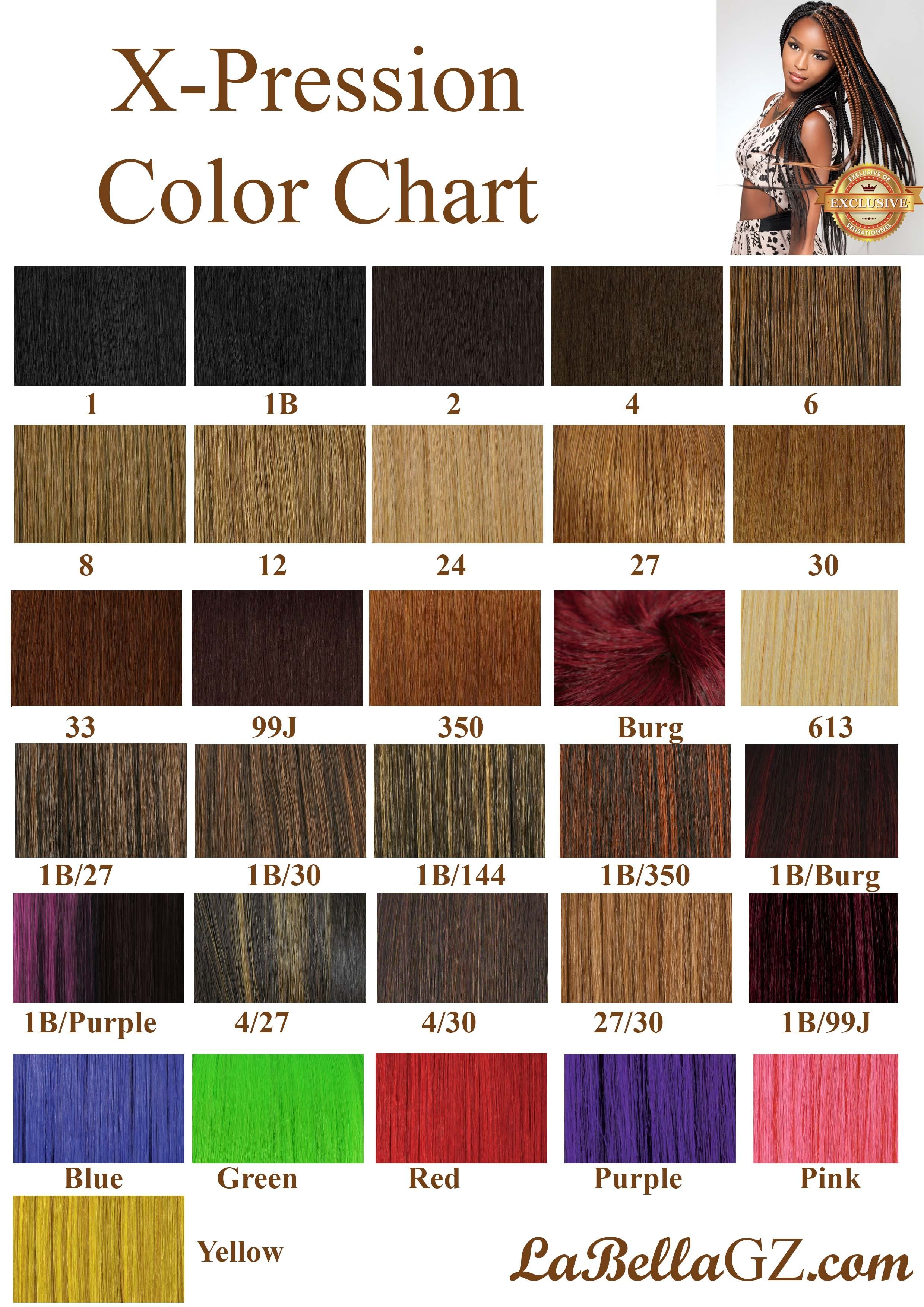 The Best Xpressions Braiding Hair Color Chart Www Katwalkatharsis Pictures
