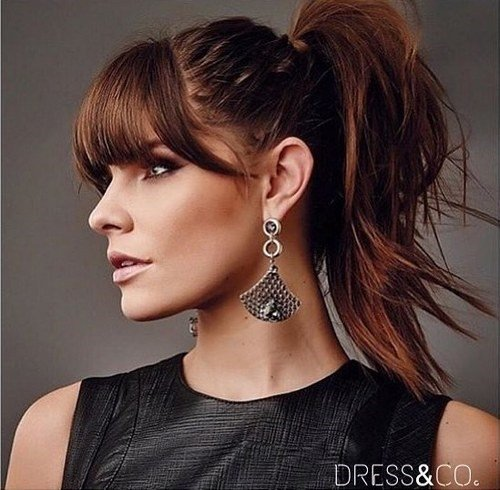 The Best 20 Great Ponytails With Bangs Inspiration Ideas Pictures