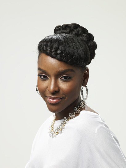 The Best French Braid Natural Updo Thirstyroots Com Black Hairstyles Pictures