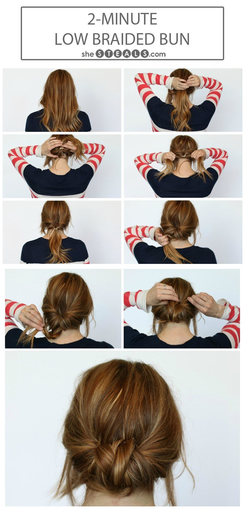 The Best 2 Minute Low Braided Bun Pictures
