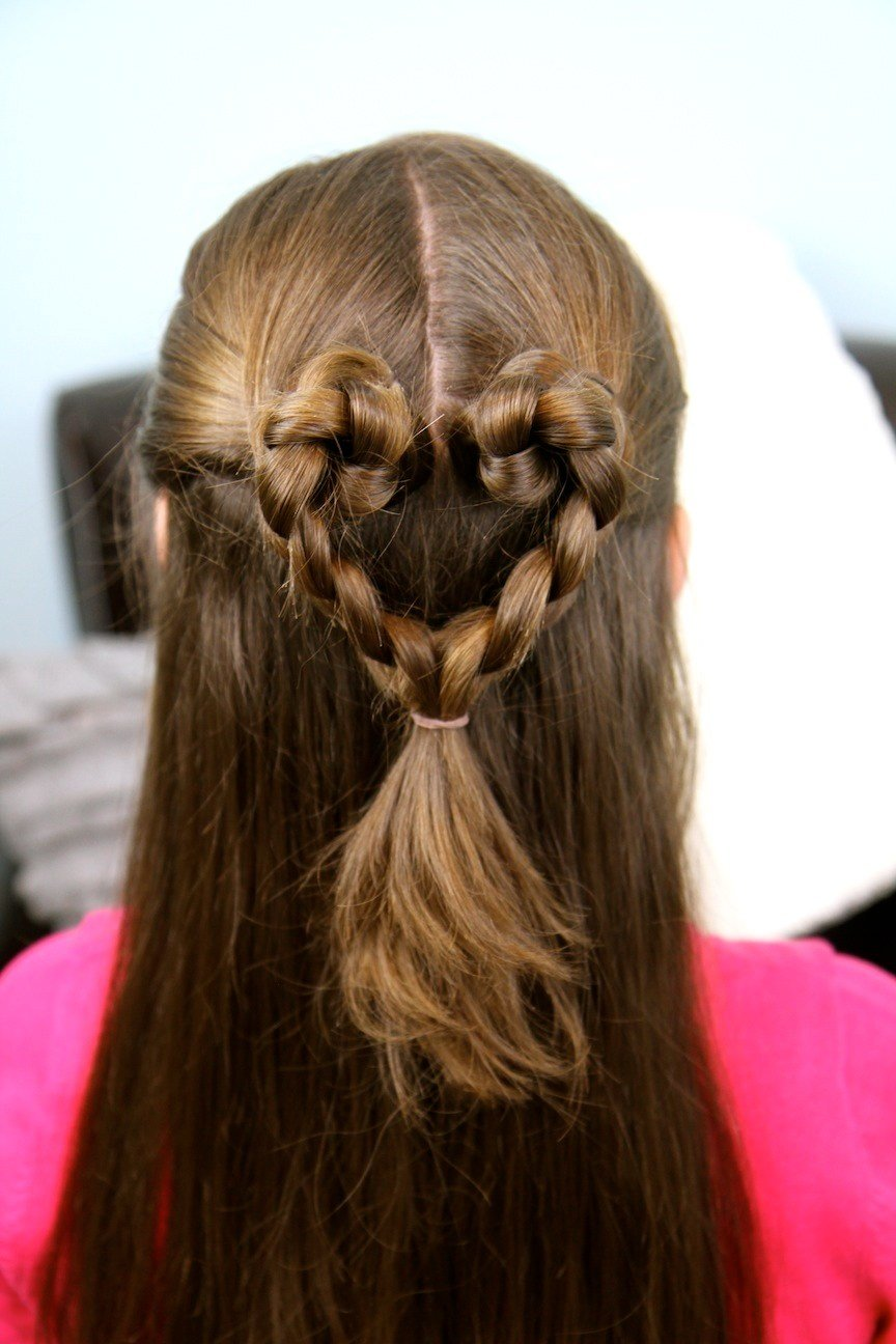The Best Twist Braided Heart Valentine S Day Hairstyles Cute Pictures