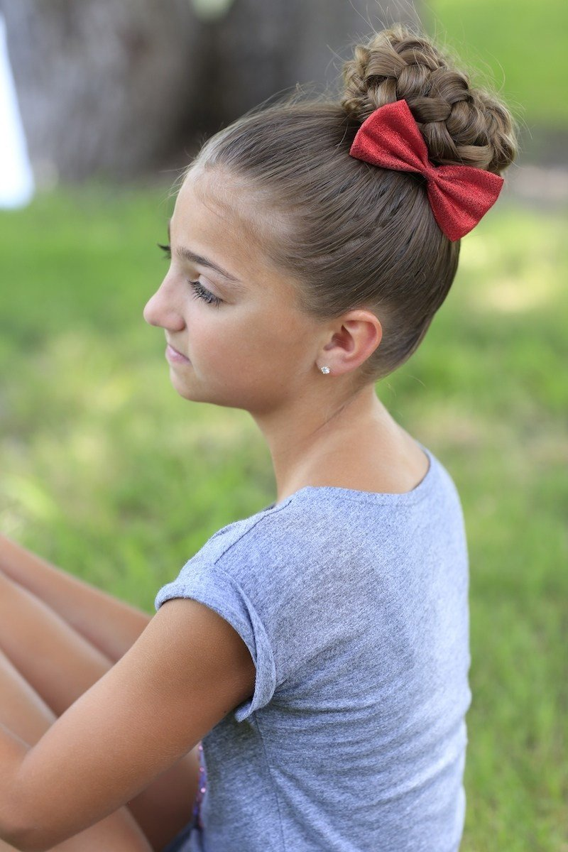 The Best Pancaked Bun Of Braids Updo Hairstyles Cute Girls Pictures