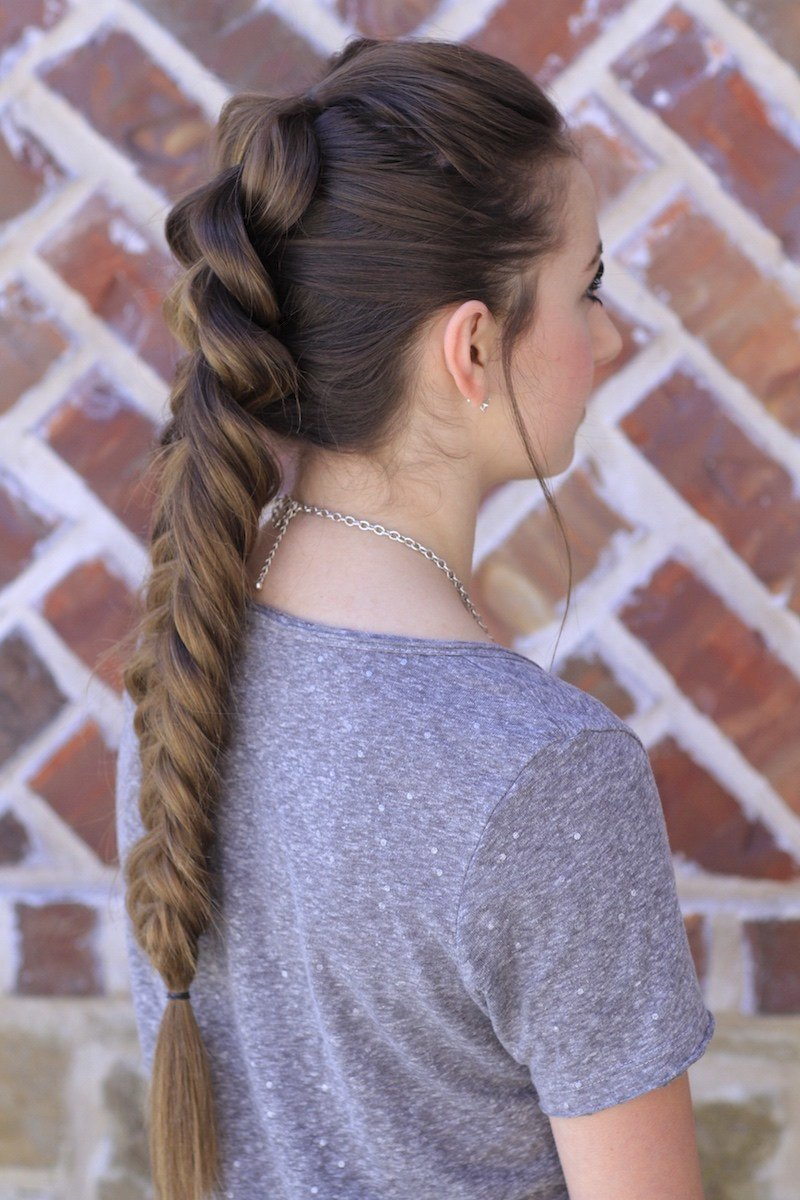 The Best Pull Through Fishtail Braid Combo Cute Girls Hairstyles Pictures
