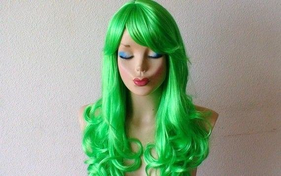 The Best Lime Green Wig Green Hair Wig Lime Green Color Wig By Pictures